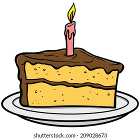 Miraculous Birthday Cake Slice Images Stock Photos Vectors Shutterstock Personalised Birthday Cards Paralily Jamesorg