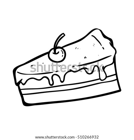 slice cake doodle art hand drawing stock vector royalty free
