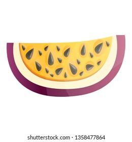 Slice maracuja icon. Cartoon of slice maracuja vector icon for web design isolated on white background