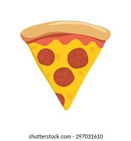 slice italian pepperoni pizza on white stock vector 297031610 rh shutterstock com pizza slice outline vector pizza slice vector free