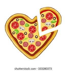 slice of pizza, a piece of heart.