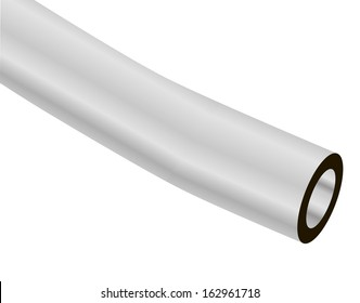 A slice of pure vinyl tubes for industrial applications. Vector illustration.