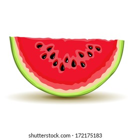 Slice of watermelon in vector
