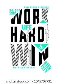 Sliced Text Tee Shirt Design with Slogan