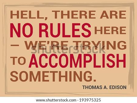 Slide Motivational Quotation Proverb Thomas Edison Stock Vector