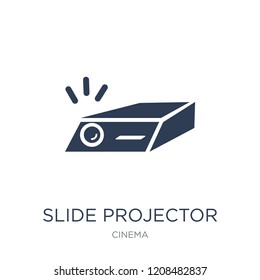 slide projector icon. Trendy flat vector slide projector icon on white background from Cinema collection, vector illustration can be use for web and mobile, eps10