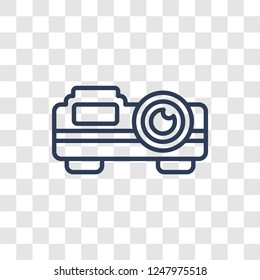 slide projector icon. Trendy linear slide projector logo concept on transparent background from Cinema collection