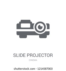 slide projector icon. Trendy slide projector logo concept on white background from Cinema collection. Suitable for use on web apps, mobile apps and print media.