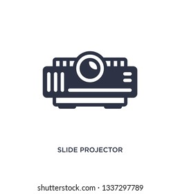 slide projector isolated icon. Simple element illustration from cinema concept. slide projector editable logo symbol design on white background. Can be use for web and mobile.
