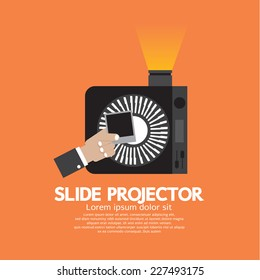 Slide Projector An Opto-Mechanical Device To Show Photographic Slides Vector Illustration