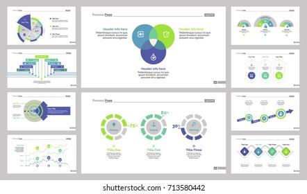 Slide template design set