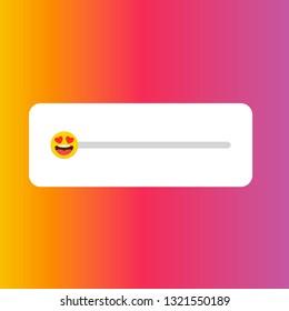 Slider smile.  Simple element illustration. Instagram story rate slide with smile icon.