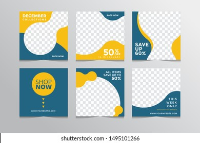 Slides abstract Unique Editable modern Social Media banner Template.Anyone can use This Design Easily.Promotional web banner for social media. Elegant sale and discount promo - Vector.