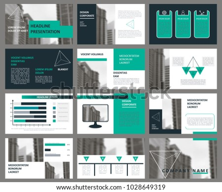 slides modern presentation template abstract infographic stock