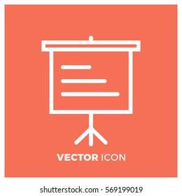 slideshow line vector icon