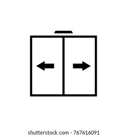 Sliding door vector icon, automatic door icon