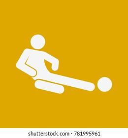 Sliding Tackle Football Soccer Sport Figure Symbol Vector Illustration Graphic