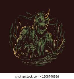 Slime Monster Illustration