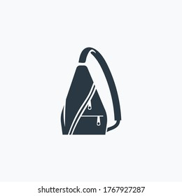 Sling bag icon isolated on clean background. Sling bag icon concept drawing icon in modern style. Vector illustration for your web mobile logo app UI design.
