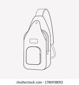 Sling bag icon line element. Vector illustration of sling bag icon line isolated on clean background for your web mobile app logo design.