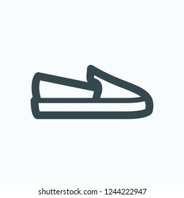 Slip-ons icon, checkerboard slip-on vector icon