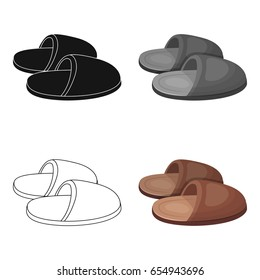 Slippers.Old age single icon in cartoon style vector symbol stock illustration web.