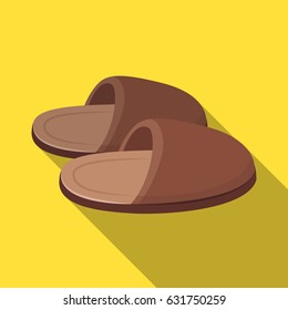 Slippers.Old age single icon in flat style vector symbol stock illustration web.