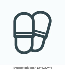 Slippers icon, house slippers vector icon