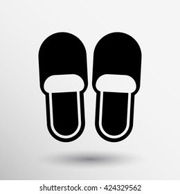 slippers icon slipper home isolated soft logo.