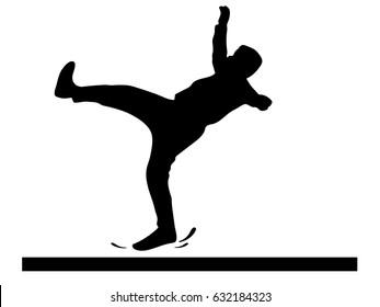 slippery floor icon on white background