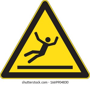 Signe d'avertissement du triangle jaune du sol glissant