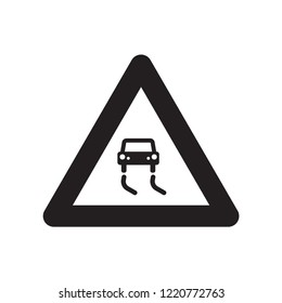 Slippery road icon. Trendy Slippery road logo concept on white background from Insurance collection. Suitable for use on web apps, mobile apps and print media.