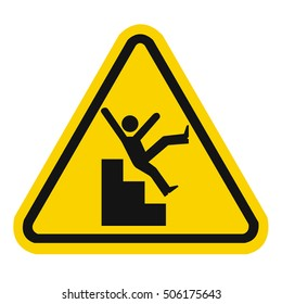 Slippery stairs warning
