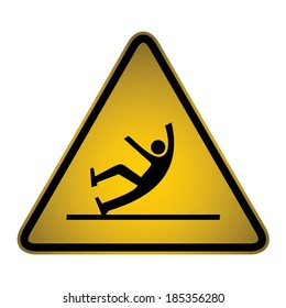 Slips and Trips warning sign- vector