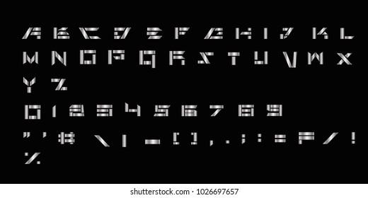 Sliver futuristic vector font