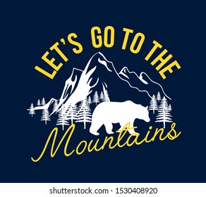Slogan and adventure about print design vector.