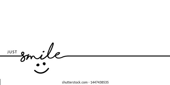 Slogan by happy and smile every day World smiling month Drawing emotion symbol Vector draw success relax quotes Relaxing and chill, motivation, inspiration message moment concept lazy ideas Smile time