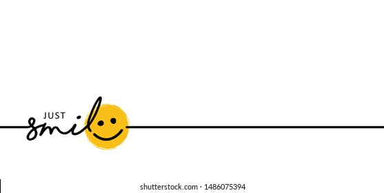 Slogan by happy and smile every day World smiling month Drawing emotion symbol Vector draw success relax quotes Relaxing and chill, motivation, inspiration message moment concept lazy ideas emoji time