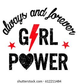 slogan graphics for t-shirts,girl power