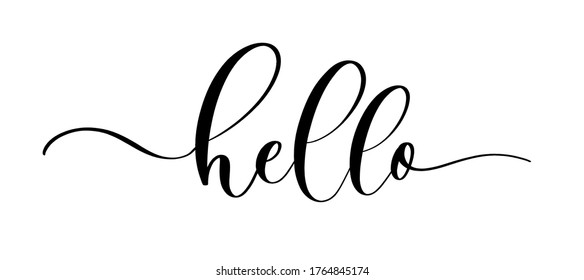 Slogan hello with smooth lines. World hello day, November 21. Vector success quotes for banner or wallpaper.