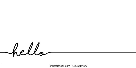 Slogan hello. World hello day, November 21 Funny drawing greeting welcome home ideas. Vector success quotes for banner or wallpaper. Relaxing and chill, motivation and inspiration message concept.
