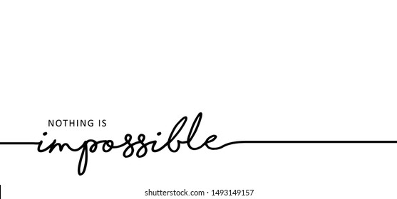 Slogan Impossible or possible hope dreams ideas. Vector success quotes for banner or wallpaper. Positive attitude, motivation and inspiration message concept. Cencept for action and reaching goals.