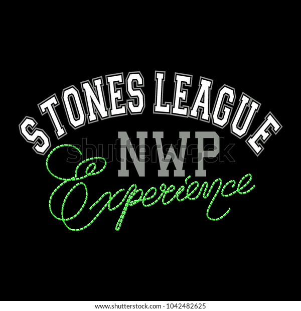 Slogan, League print for t-shirt graphic,vector