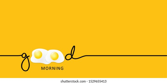 Slogan quote Good morning the letter O  as an egg eggs coffee vector icon icons sign fun funny breakfast food motivation line pattern happy new day lazy day World sleep day dream dreams day weekend