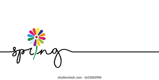 Slogan It's spring time, let the spring begin Funny vector summer sale quotes for banner or card. Relaxing and chill, motivation and inspiration message concept. Happy vacation, holiday weekend ideas.