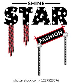 slogan star fashion for tshirt illustration