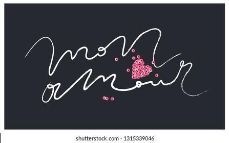 Womens XOXO Script Heart Cute Hugs and Kisses T Shirt for Ladies