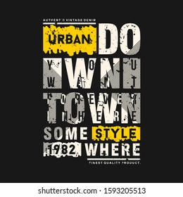 slogan text frame urban graphic with abstract background