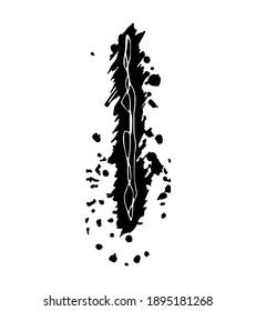 Sloppy grunge letter isolated on white background.