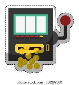 slot machine casino related icon image vector illustration design